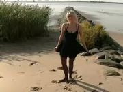 Hot Blonde Girlfriend Fucking and Sucking Dick on the Beach